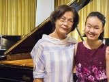 Recital by Christabel Lee, Christabel with family members #2