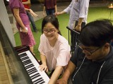Pianovers Meetup #35, Corrine and Zafri having fun playing
