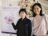 Pianovers Hours, Siew Tin, and May Ling with Pianovers Hours poster