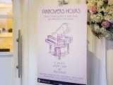 Pianovers Hours, Poster at the House's entrance