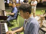 Pianovers Meetup #41, Chris, and Timothy playing