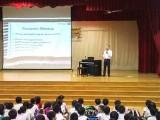 Arts Festival @ Zhonghua Primary School, Yong Meng sharing Pianovers Meetup during Assembly Talk