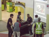 Arts Festival @ Zhonghua Primary School, Staff helping to move the piano