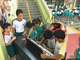 Arts Festival @ Zhonghua Primary School, Albert with students