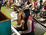 Pianovers Meetup #46, I-Wen performing, with Jenny beside