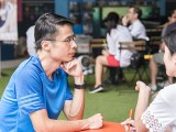 Pianovers Meetup #54, Theng Beng taking an interview by Straits Times reporter