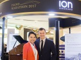 Piano Marathon @ ION Orchard 2017, Celine Goh, and Adam Gyorgy