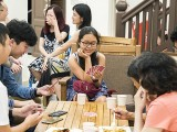 Pianovers Meetup #64, Play cards, enjoying food, chatting