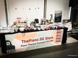 ThePiano.SG Pop-up Stall @ Suntec, Table is set up