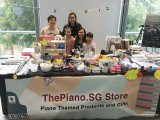 ThePiano.SG Pop-up Stall @ Suntec, Priscilla and family