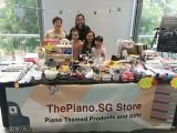 ThePiano.SG Pop-up Stall @ Suntec, Priscilla and family