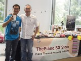 ThePiano.SG Pop-up Stall @ Suntec, Chris Khoo, and Yong Meng