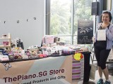 ThePiano.SG Pop-up Stall @ Suntec, Felicia, and Yong Meng