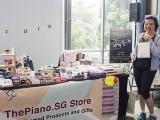 ThePiano.SG Pop-up Stall @ Suntec, Felicia, and Yong Meng