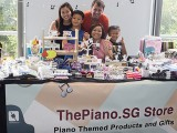 ThePiano.SG Pop-up Stall @ Suntec, Celine and family