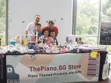 ThePiano.SG Pop-up Stall @ Suntec, Yong Meng, Celine and family