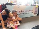 ThePiano.SG Pop-up Stall @ Suntec, Jake, Mia, and Luke