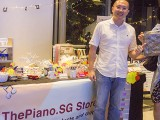 ThePiano.SG Pop-up Stall @ Suntec, Yong Meng, and May Ling
