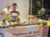 ThePiano.SG Pop-up Stall @ Suntec, Yong Meng, and Jim