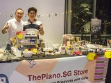 ThePiano.SG Pop-up Stall @ Suntec, Yong Meng, and Jim