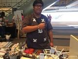 ThePiano.SG Pop-up Stall @ Suntec, Zafri wearing piano themed bracelet