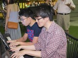 Pianovers Meetup #75, Jeremy, and Matthew playing