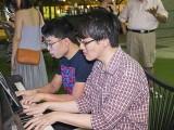 Pianovers Meetup #75, Jeremy, and Matthew playing