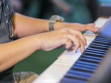 Pianovers Meetup #76, Closeup of Gavin performing
