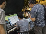 Pianovers Meetup #80, Hiro, and Corrine playing