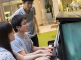 Pianovers Meetup #80, Corrine, and Hiro playing