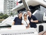 Pianovers Sailaway #2, Winny, Erika, and Hiro with piano