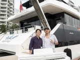 Pianovers Sailaway #2, Gregory Goh, and Von with piano
