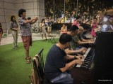Pianovers Meetup #94 (Mid-Autumn Themed), Teo Gee Yong, Yu Teik Lee, Brian, and Peter Prem playing