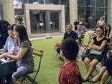 Pianovers Meetup #99 (Halloween Themed), Corrine Ying, Yat Yun Wei, and Kendrick Ong performing, with Kayden Li dancing