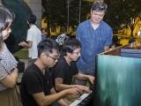 Pianovers Meetup #100 (Celebratory Themed), Kendrick Ong, and Hiro playing