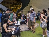 Pianovers Meetup #100 (Celebratory Themed), Julia Goh, and Goh Zensen playing