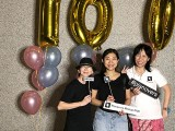Pianovers Meetup #100 (Celebratory Themed), Pianovers taking picture at photo booth #10