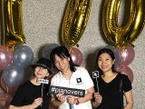 Pianovers Meetup #100 (Celebratory Themed), Pianovers taking picture at photo booth #11