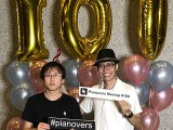Pianovers Meetup #100 (Celebratory Themed), Pianovers taking picture at photo booth #16