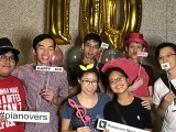 Pianovers Meetup #100 (Celebratory Themed), Pianovers taking picture at photo booth #21
