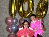 Pianovers Meetup #100 (Celebratory Themed), Pianovers taking picture at photo booth #23
