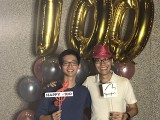 Pianovers Meetup #100 (Celebratory Themed), Pianovers taking picture at photo booth #24