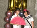 Pianovers Meetup #100 (Celebratory Themed), Pianovers taking picture at photo booth #28