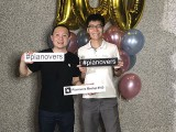 Pianovers Meetup #100 (Celebratory Themed), Pianovers taking picture at photo booth #31