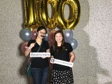 Pianovers Meetup #100 (Celebratory Themed), Pianovers taking picture at photo booth #33