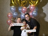 Pianovers Meetup #100 (Celebratory Themed), Pianovers taking picture at photo booth #45