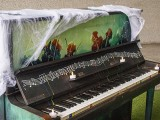 Pianovers Meetup #99 (Halloween Themed), Piano decorated for Halloween