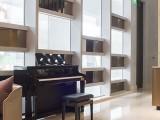 Performing at Wallich Residence, piano setup