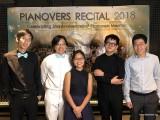 Pianovers Recital 2018, Jonathan Lam, Teh Yuqing, Erika Iishiba, Xavier Hui, and Jeremy Foo