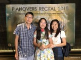 Pianovers Recital 2018, Charmaine Cher, and her parents